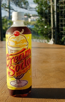 沖縄限定クリームソーダジュース。甘い・・・、甘すぎる。