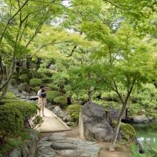 この庭園にある茶室はパナの松下さん寄贈。