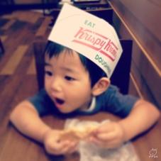 お子様帽子をいただきました。