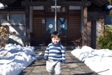 城内にはお義父さんと義弟を通さなかったけど、ここのお寺で孫に会わせてあげた気配り上手の小松姫。ぼくがその孫です。
