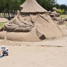 大きな砂場!