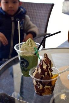 宮崎のチェーンcafe店。お茶味おいしい~。